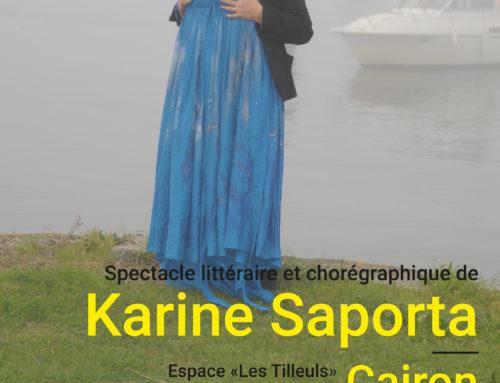 Spectacle chorégraphique et littéraire Karine SAPORTA/Jeanne BENAMEUR – 17 février 2018
