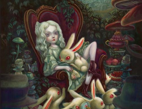 A… comme Alice, inspiré d'»Alice au pays de merveilles»